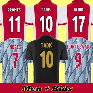 Tadic Futbol Forması Amsterdam 2021 Kudus Antony Kör Promes TagliaFico Neres Cruyff 20 21 Erkekler + Çocuk Kiti Futbol Gömlek Üniformaları Üçüncü 50