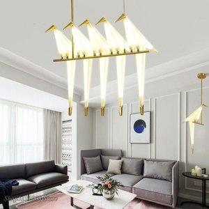 Nordic Pendant Lights Bedroom Origami Bird Light Kitchen Gold Fixtures Dinning Room Furniture Living Lamp Lamps