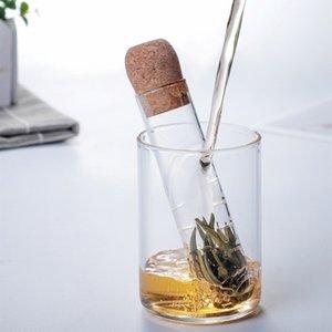 Newuniversal Vidrio Tea Strainer Infuser Tubería Creativa Herramientas Reutilizables Filtro reutilizable para la taza Fancy Floot TEAS Hojas de la cerveza Hierba B3