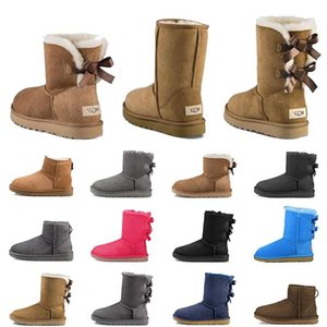 Womens Designer Boots For Women Platform booties WGG UG Uggs Australia Retro Classic Ankle Snow Boot Furry Fur Winter Chestnut Black Grey Bow Warm Outdoor Shoes