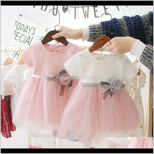 Dresses Baby, & Maternity Drop Delivery 2021 0-4Y Baby Toddler Children Summer Cotton Cute Mesh Stitching Bottoming Sweet Princess Dress Kids