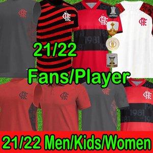 New Flamengo 2021 2022 Фламенго футбол футбол роса Диего Габриэль Б. Габи де araSaScaeta E.Ribeiro Gerson B.henrique Camisa Men Детей женщины футбольные рубашки Новый