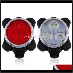 Lights Usb Taillight Mountain Bike Bicycle Headlight Cob Warning Led Light Night Riding Equipment Qa41V Gnjvx