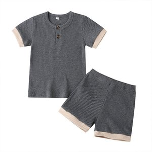 Baby Designs Clothing Sets Infant O-Neck pullover Short suits 2pcs relaxation summer short-sleeved T-shirt wmq874
