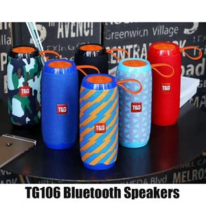TG106 Bluetooth Wireless Speakers Subwoofers Handsfree Call Profile Stereo Bass Support TF USB Card AUX Line In Hi-Fi Loud Mini Portable Outdoor Speaker