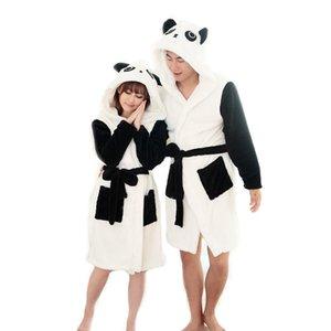 Women's Sleepwear Panda Cartoon Robes For Women Long Sexy Robe D Stitch Cow Seep Animal Sleep Bathrobe Nightgown