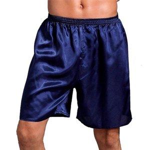 Большой размер 5XL атласные мужчины боксеры сексуальное нижнее белье комфортно сплошной цвет прохладный летний мужская мужская пила боксеры боксеры шорты гомберы CUECAS