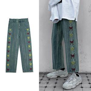 Men's Jeans 2021 Loose Pants Fashion Woman Denim Jogging Sweatpants Oversize Male Straight Trousers S-5XL