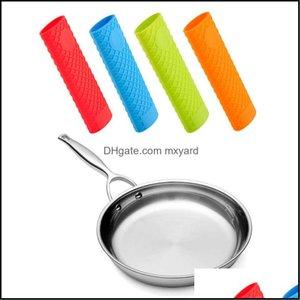 Kitchen, Dining Bar Home & Gardensaucepan Holder Sleeve Slip Er Grip Cookware Parts Unique Kitchen Sile Pot Pan Handle Drop Delivery 2021 Yz