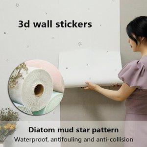 Wallpapers Moisture-Proof Self-Adhesive Wallpaper Waterproof 3D Wall Sticker Panel Bedroom Kitchen Bathroom Furniture Decora