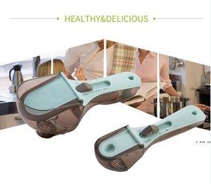 أدوات قياس المطبخ مقياس البلاستيك البيئي ملعقة قابل للتعديل ملاعق مجموعة أدوات الخبز PP + ABS + TPR HWA4981