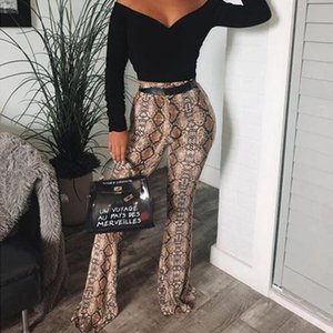 Women Tie Dye Stretch Bell Bottom Trousers Leopard Printed High Waist Flared Pants Boho Beach Casual Slim Long Women's & Capris