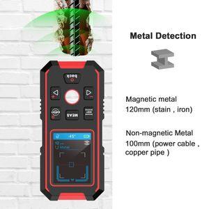 Metal Detectors NOYAFA NF-518S Multifunctional Smart Laser Rangefinder Distance Meter Electronic Wall Depth Detector Scanner For Wood