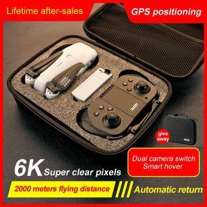 Drone 6K HD Camera GPS 5G Wifi FPV RC Quadcopter 2000M Distance 25min Smart Return Foldable Helicopter Mini Dron Drones