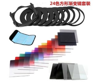 24 color square gradual change filter set insert square gradual change filter