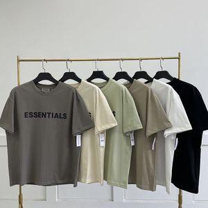 Classic Designer Men's T-shirts European Short-sleeved Essentials T-shirt Print White Cotton T Shirts Casual Streetwear Tshirt Akend