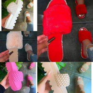 heoch pksaq mujeres invierno casa de alta calidad lujosos diseñadores zapatillas zapatillas de piel damas corazón interior peludo cálido otoño zapatilla lindo