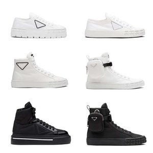 luxury Women Sneakers Designer Shoes Lnspired by motorcycle wheels a nylon gabardine sneaker has Thick rubber sole Ariangular adorns the