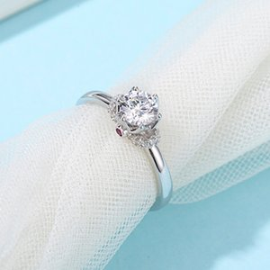 2021 jewelry fashion true love coronation 0.5 carat 925 silver plated 18K Gold ring D color Moissanite