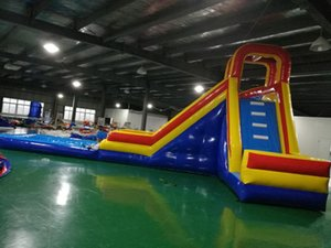 Durable Inflatable Water Slide Outdoor Amusement Park Facility Commercial PVC With Front Pool Games & Activities