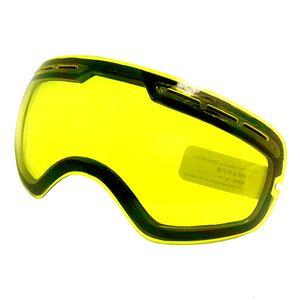 Ski Goggles Lens UV400 Ski Snowboard Glasses Lens Brightening For Weak Light Cloudy For GOG-201 S-3100 (Only Lens)
