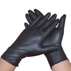 100pcs lot Disposable Gloves gloves Household Cleaning Washing Black Laboratory Nail Art Anti-Static Gloves Available Size Accessories