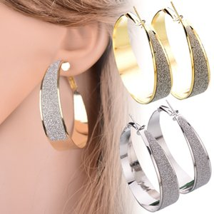 Fashion Big Wide Circle Hoop Earring for Women Gold Sliver Color Matte Korean Earrings Party Jewelry Accessories Gifts