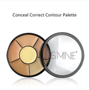 PROFESSIONAL MAKEUP Conceal Correct Contour Palette - Deep, 6 Colors Concealer Face Contouring Highlighter Palettes