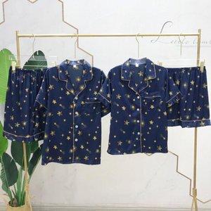 Ice Silk Pajamas Summer Couple Matching Korean Version of the INS Printing Ms. Short-Sleeved Clothing Leisure L Men's Pajamas11