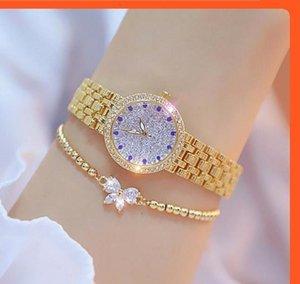 2020 BS Ape Sister Diamond Women's Quartz Quartz Luxury Lady Rose Gold Ladies Steel Impermeabile Crystal Crystal Orologio unico