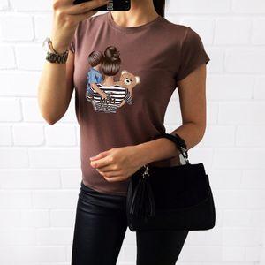 PROPCM Women Summer Cute T Shirt Super Mama Print Short Sleeve O Neck Loose Tshirt Harajuku Sleeve Female Tee Tops Short Camisetas Mujer