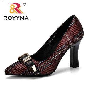 ROYYNA Women Pumps Spring & Autumn Plus Size 34-43 Fashion Elegant Pointed Toe Office Ladies High Heels Woman Trendy Shoes 210610 J6VM74NV