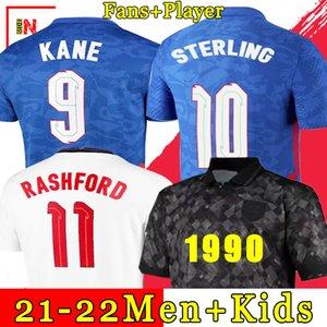 ENGLAND 2020 2022 Soccer Jersey Kane Sterling Rashford Sancho Henderson Barkley Maguire 20 22 القمصان الوطنية لكرة القدم الرجال + Kids Kit مجموعات الزي الرسمي