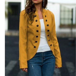 Autumn Spring Women Jackets Fashion Woman Tweed Jacket Casual Solid Color Slim Retro Outwear Coats Female Clothing Women's