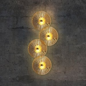 Modern Simple Round Wall Lamp Nordic Glass Wall Light Hotel Living Room TV Background Decoration Wall Lamp Bedside Home Indoor LED Lighting Corridor Aisle led Lamp