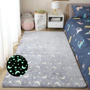 Thick Carpet Luminous Plush Rug Dinosaur star moon Children Bed Room Fluffy Floor Carpets Bedside Home Decor Rugs Velvet Mat