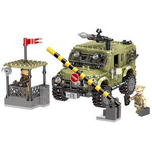 Xingbao Building Blocks 06012 Military Series Jeep Boy Kids Hobby Self Assemble Toys