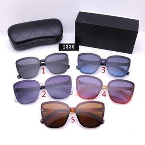 Cinq couleurs Lunettes de soleil à la mode pour femmes de luxe de luxe de haute qualité HD Polarized lentilles de conduite 1330