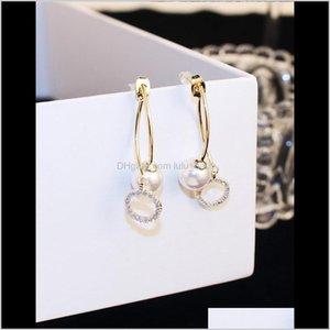 INS Модный дизайнер Front Back Двухсторонняя роскошь Rhinestone Diamonds Pearl Серьги для женщин Девушки Epwvk Vhaea