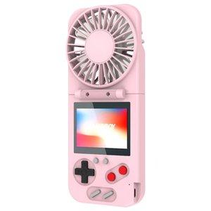 Jugadores portátiles Jugadores Consola de mano, ventilador plegable, carga USB, Mini consola de pantalla de color de casa