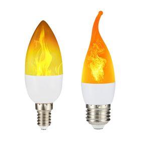Led Simulated Flame Bulbs 5W E14 E27 B22 85-265V Luces Home Electronic Accessories Lamp Light Effect Lampada