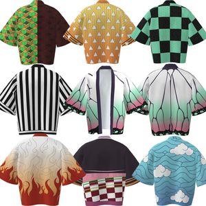 Theme Costume Demon blade animation surrounding feathered kimono jacket zhaomen charcoal jiro bathrobe cape pajamas