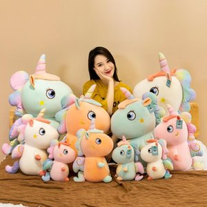 Cute starry sky unicorn doll pillow feather cotton stuffed plush toys children birthday gifts for girls