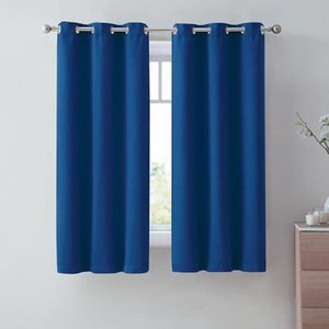 Curtain & Drapes 2Pcs Set Blackout Curtains Thickened Double-Sided Multicolor Coating Sunscreen Shading Fabric Thermal Insulation