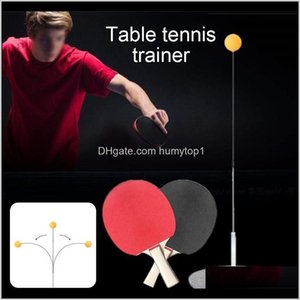 Sets Elastic Shaft Portable Table Tennis Set Kids Adult Ping Pong Practice Trainer Selftraining Leisure Decompression Y0Ti Apw63