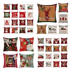 46style Home Christmas pillow Case sofa waist cushion cover bedside backrest pillow cover T2I52833