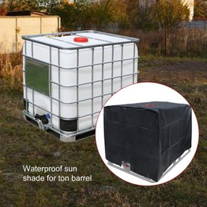 Shade 47.24*39.37*45.67in IBC Container Cover Dustproof Bucket Protection 210D Oxford Cloth For Water 1000L Tank