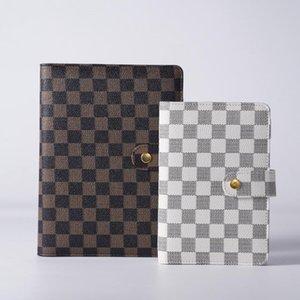 Notepads Hardcover A5 A6 Diseñado Anillo Manginador Organizador Diario Diario Cuadernos Cubierta Cubierta de Luxury Cuero Planeador a cuadros