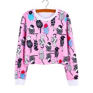 Fahion Modern City Print Girls Cropped Sweatshirts Casual Women Polyester Clothing Autumn Fashion Harajuku Style Tracksuit Wholesale