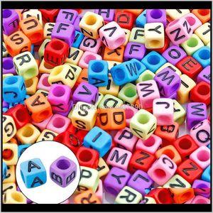 Acrylic, Plastic, Lucite Loose Jewelrykimter 1400Pcs Acrylic Beads Cube Alphabet Letter Bead For Making Jewelry Beading Bracelet Necklace Ae
